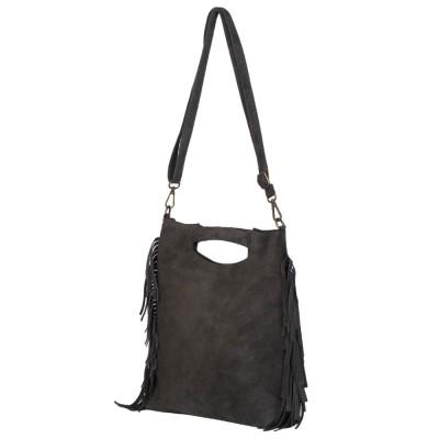 Чанта от велур Renata, зелена