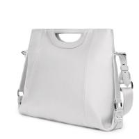 Дамска чанта от естествена кожа Agatha, бяла