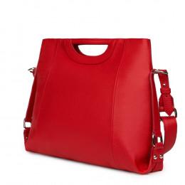 Дамска чанта от естествена кожа Agatha, червена