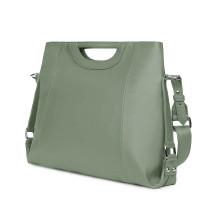 Дамска чанта от естествена кожа Agatha, светло зелена