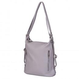 Чанта-раница 2-в-1 от естествена кожа Alessia, сива
