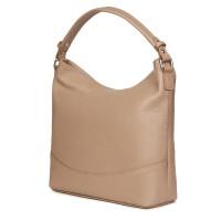 Дамска чанта от естествена кожа Andra, бежова