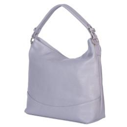 Дамска чанта от естествена кожа Andra, сива
