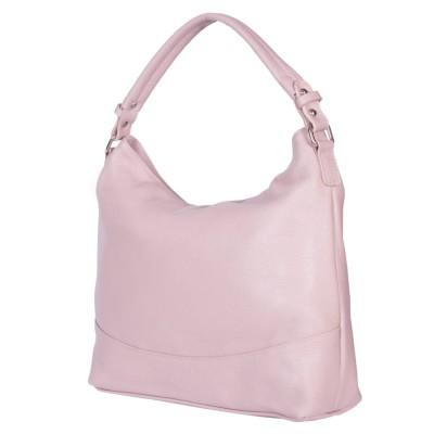 Дамска чанта от естествена кожа Andra, розова