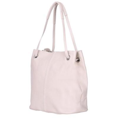Дамска чанта от естествена кожа Angelica, светло бежова