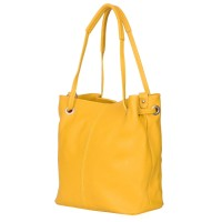 Дамска чанта от естествена кожа Angelica, жълта