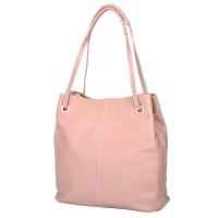 Дамска чанта от естествена кожа Angelica, розова