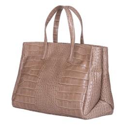 Чанта от естествена кожа Antonia, бежова