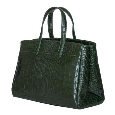 Чанта от естествена кожа Antonia, зелена