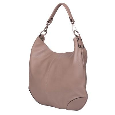 Дамска чанта от естествена кожа Carla, бежова