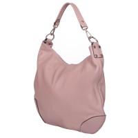 Дамска чанта от естествена кожа Carla, розова