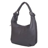 Дамска чанта от естествена кожа Caterina, сива