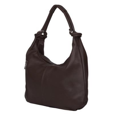 Дамска чанта от естествена кожа Caterina, кафява