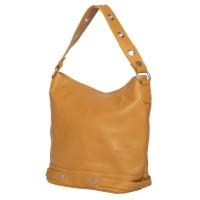 Дамска чанта от естествена кожа Cellia, жълта