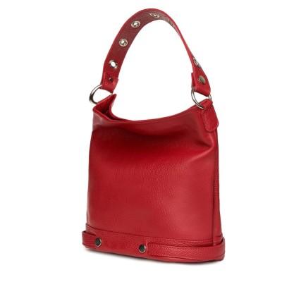 Дамска чанта от естествена кожа Cellia, бордо