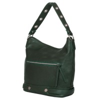 Дамска чанта от естествена кожа Cellia, зелена
