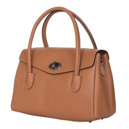 Чанта от естествена кожа Corona, кафява
