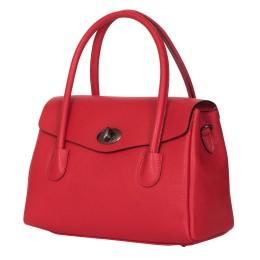 Чанта от естествена кожа Corona, червена