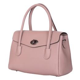 Чанта от естествена кожа Corona, розова