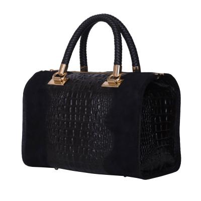 Дамска чанта от естествена кожа Giovanna, черна