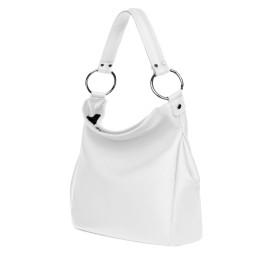 Дамска чанта от естествена кожа Jamila, бяла