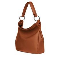 Дамска чанта от естествена кожа Jamila, коняк