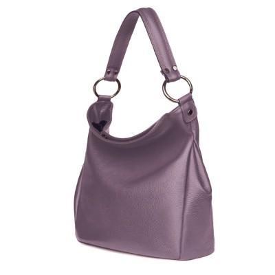 Дамска чанта от естествена кожа Jamila, лилава