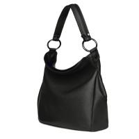 Дамска чанта от естествена кожа Jamila, черна