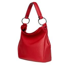 Дамска чанта от естествена кожа Jamila, червена