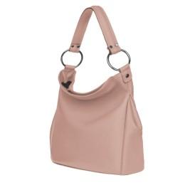 Дамска чанта от естествена кожа Jamila, розова
