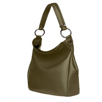 Дамска чанта от естествена кожа Jamila, зелен