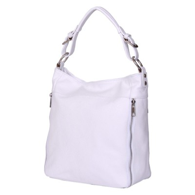 Дамска чанта от естествена кожа Lucia, бяла