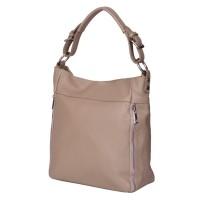 Дамска чанта от естествена кожа Lucia, бежова