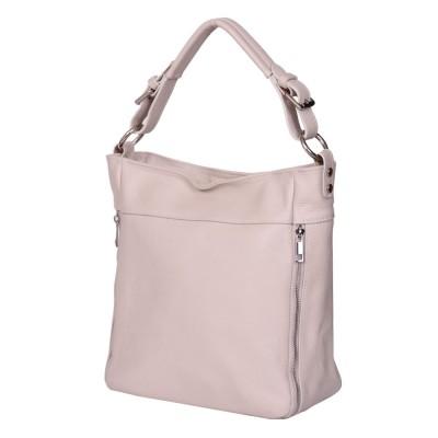 Дамска чанта от естествена кожа Lucia, кремава