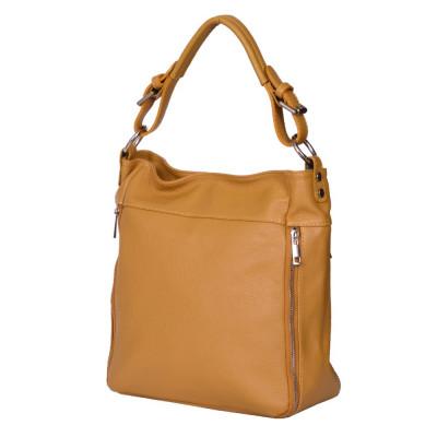 Дамска чанта от естествена кожа Lucia, жълта