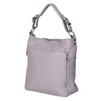 Дамска чанта от естествена кожа Lucia, сива