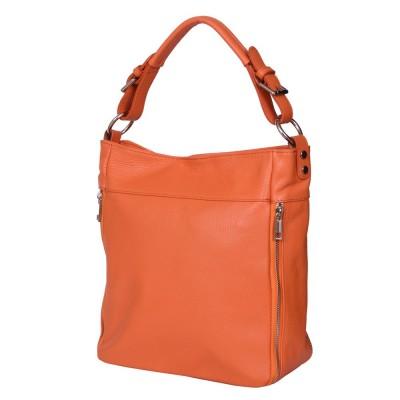 Дамска чанта от естествена кожа Lucia, оранжева