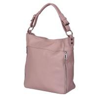 Дамска чанта от естествена кожа Lucia, розова