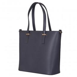 Чанта от естествена кожа Luisa, сива