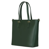 Чанта от естествена кожа Luisa, зелена