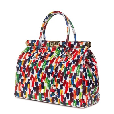 Чанта от естествена кожа Gioia многоцветен