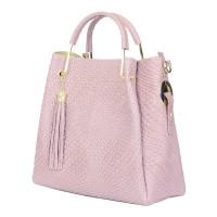 Дамска чанта от естествена кожа Olivia, розова