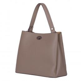 Чанта от естествена кожа Riley, бежова