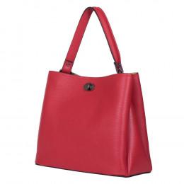 Чанта от естествена кожа Riley, червена