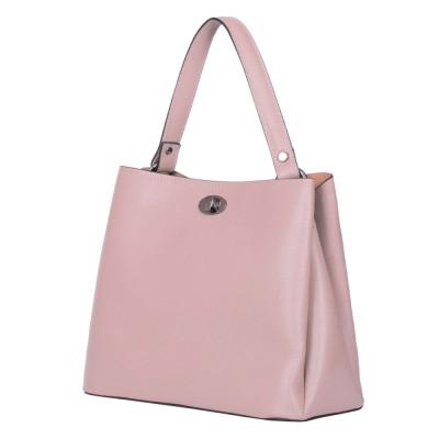 Чанта от естествена кожа Riley, розова