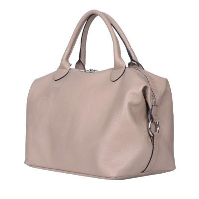 Дамска чанта от естествена кожа Viviana, бежова