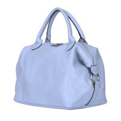 Дамска чанта от естествена кожа Viviana, светло синя