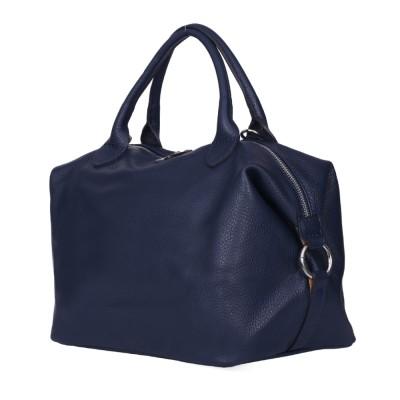 Дамска чанта от естествена кожа Viviana, тъмносиня