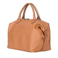 Дамска чанта от естествена кожа Viviana, коняк