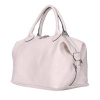 Дамска чанта от естествена кожа Viviana, светло бежова
